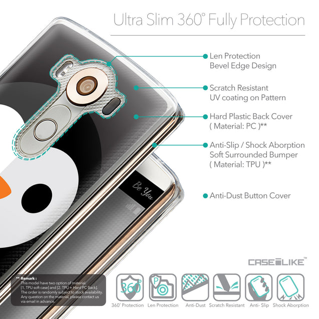 Details in English - CASEiLIKE LG V10 back cover Animal Cartoon 3640