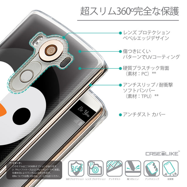 Details in Japanese - CASEiLIKE LG V10 back cover Animal Cartoon 3640