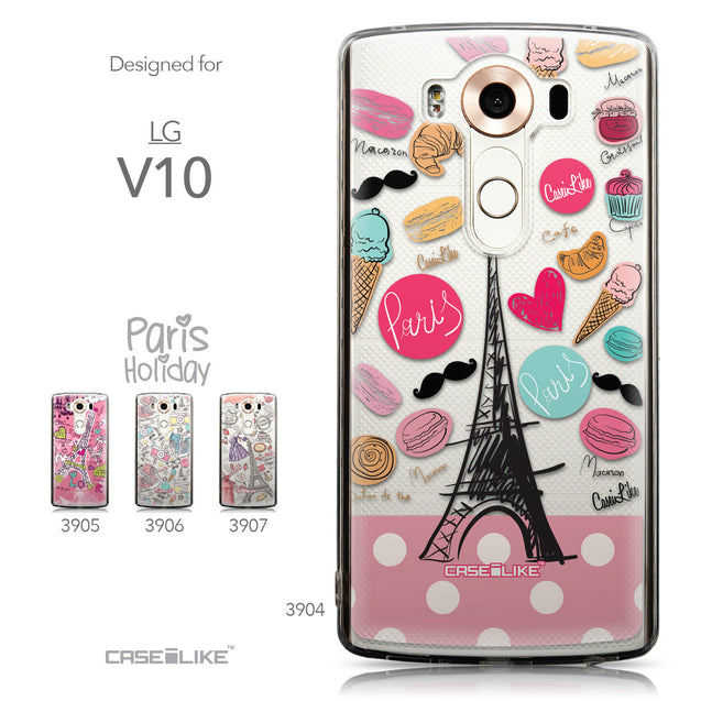 Collection - CASEiLIKE LG V10 back cover Paris Holiday 3904