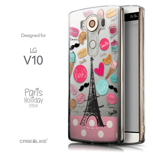 Front & Side View - CASEiLIKE LG V10 back cover Paris Holiday 3904