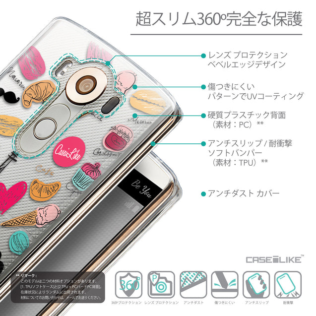 Details in Japanese - CASEiLIKE LG V10 back cover Paris Holiday 3904