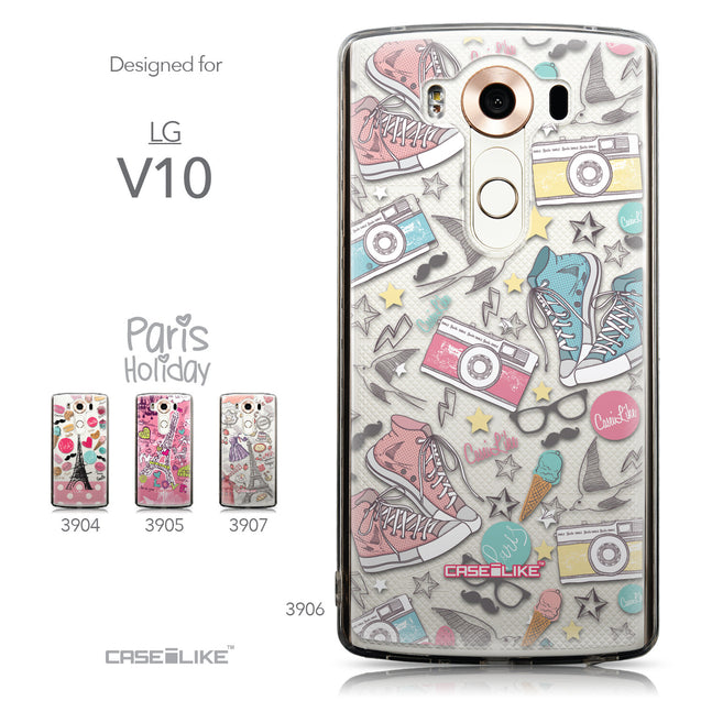 Collection - CASEiLIKE LG V10 back cover Paris Holiday 3906