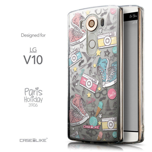 Front & Side View - CASEiLIKE LG V10 back cover Paris Holiday 3906