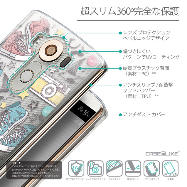 Details in Japanese - CASEiLIKE LG V10 back cover Paris Holiday 3906