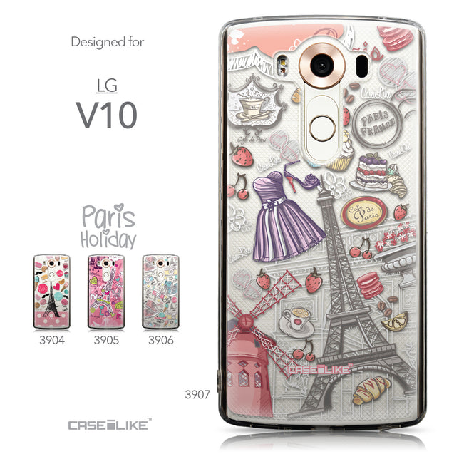 Collection - CASEiLIKE LG V10 back cover Paris Holiday 3907