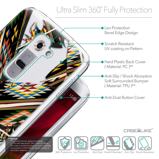 Details in English - CASEiLIKE LG G2 back cover Indian Tribal Theme Pattern 2053