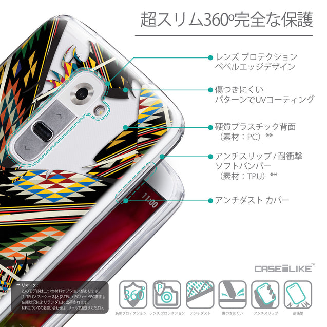 Details in Japanese - CASEiLIKE LG G2 back cover Indian Tribal Theme Pattern 2053