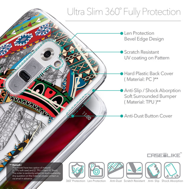 Details in English - CASEiLIKE LG G2 back cover Indian Tribal Theme Pattern 2055