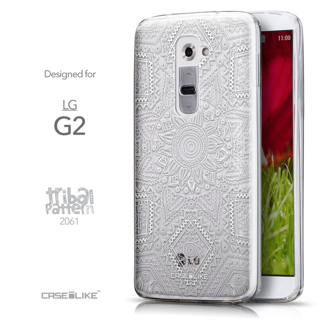 Front & Side View - CASEiLIKE LG G2 back cover Indian Line Art 2061