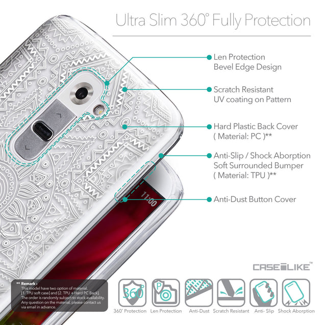 Details in English - CASEiLIKE LG G2 back cover Indian Line Art 2061