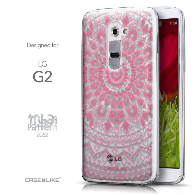 Front & Side View - CASEiLIKE LG G2 back cover Indian Line Art 2062