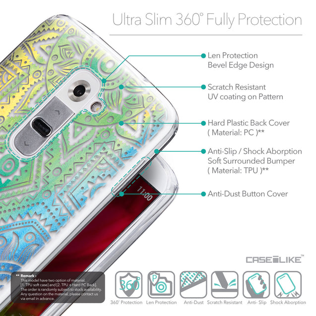 Details in English - CASEiLIKE LG G2 back cover Indian Line Art 2064