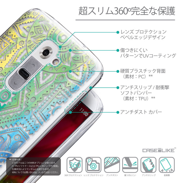 Details in Japanese - CASEiLIKE LG G2 back cover Indian Line Art 2064