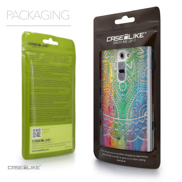 Packaging - CASEiLIKE LG G2 back cover Indian Line Art 2064