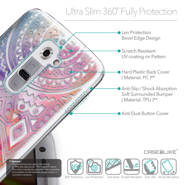 Details in English - CASEiLIKE LG G2 back cover Indian Line Art 2065