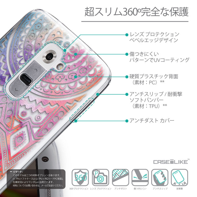 Details in Japanese - CASEiLIKE LG G2 back cover Indian Line Art 2065