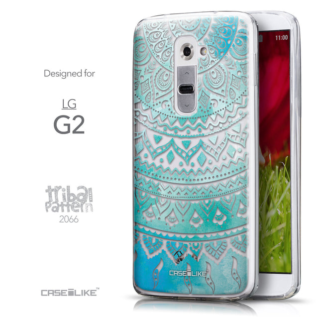 Front & Side View - CASEiLIKE LG G2 back cover Indian Line Art 2066