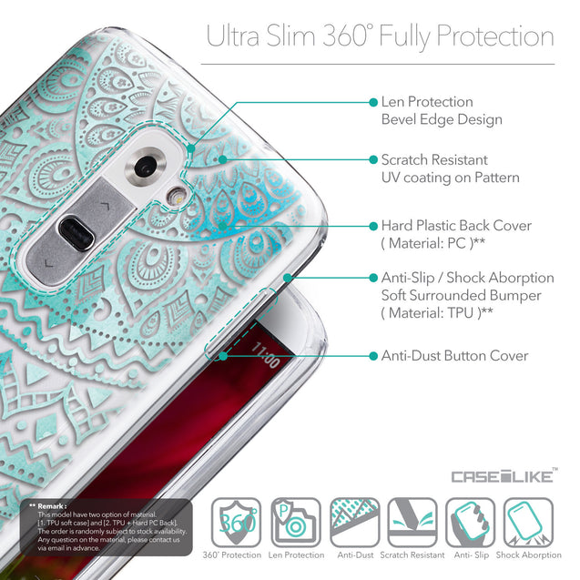 Details in English - CASEiLIKE LG G2 back cover Indian Line Art 2066