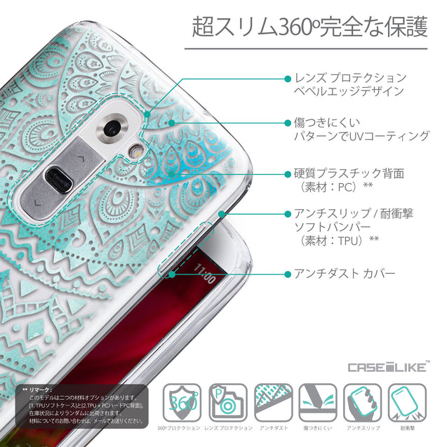 Details in Japanese - CASEiLIKE LG G2 back cover Indian Line Art 2066