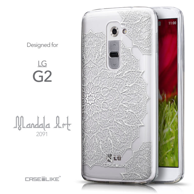 Front & Side View - CASEiLIKE LG G2 back cover Mandala Art 2091