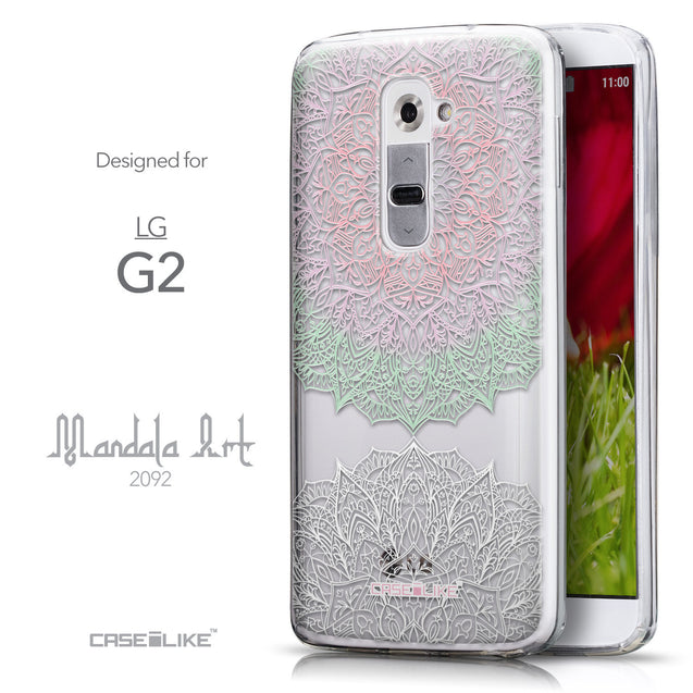 Front & Side View - CASEiLIKE LG G2 back cover Mandala Art 2092