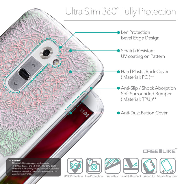 Details in English - CASEiLIKE LG G2 back cover Mandala Art 2092