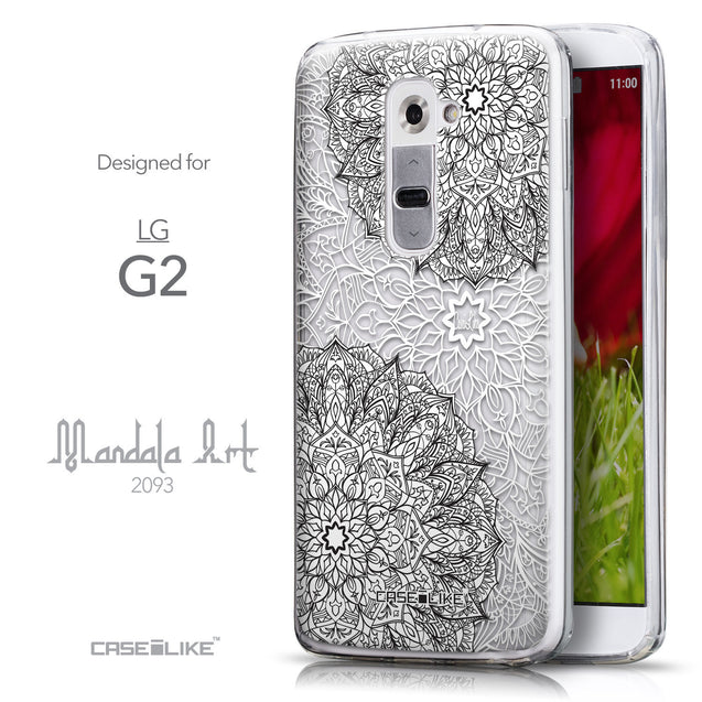 Front & Side View - CASEiLIKE LG G2 back cover Mandala Art 2093