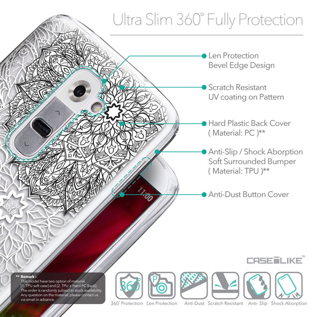 Details in English - CASEiLIKE LG G2 back cover Mandala Art 2093