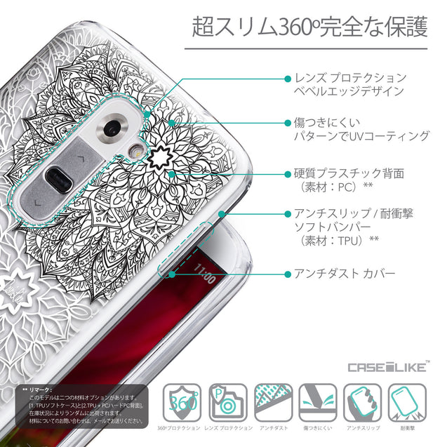Details in Japanese - CASEiLIKE LG G2 back cover Mandala Art 2093