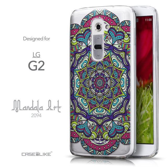 Front & Side View - CASEiLIKE LG G2 back cover Mandala Art 2094