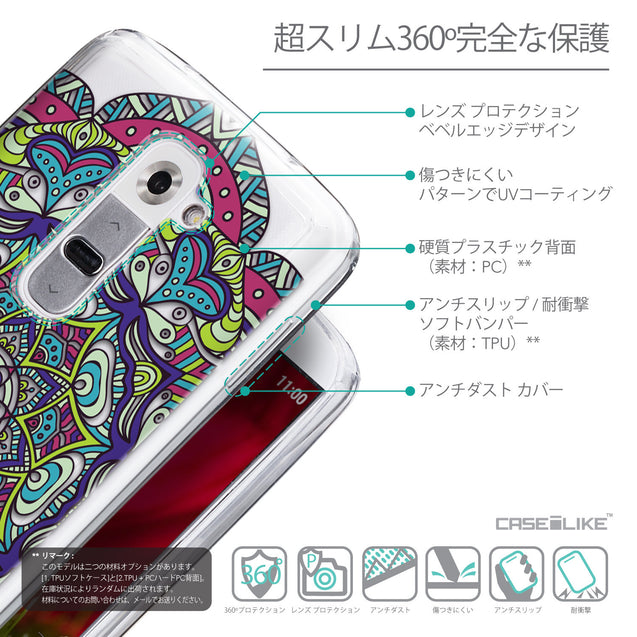 Details in Japanese - CASEiLIKE LG G2 back cover Mandala Art 2094