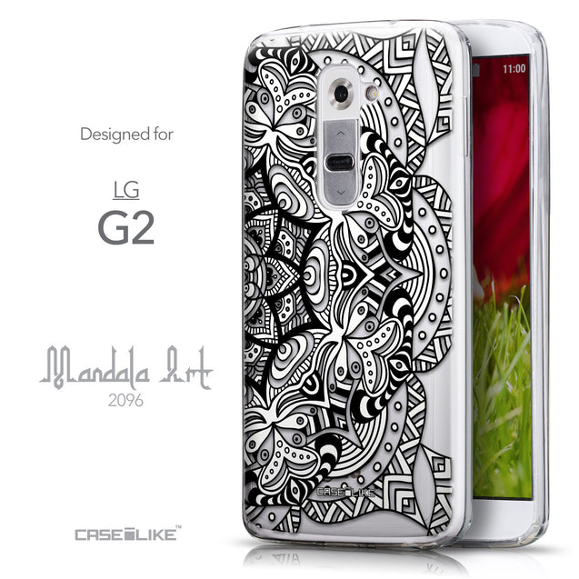 Front & Side View - CASEiLIKE LG G2 back cover Mandala Art 2096