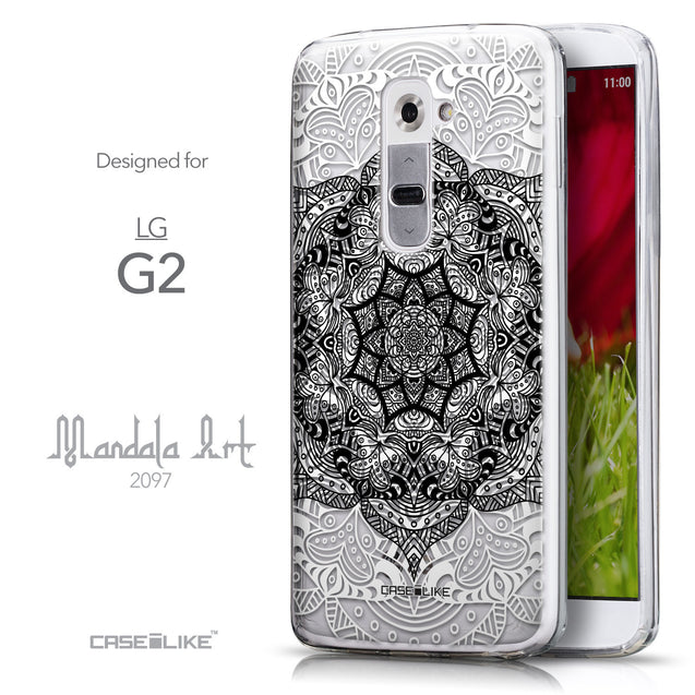 Front & Side View - CASEiLIKE LG G2 back cover Mandala Art 2097