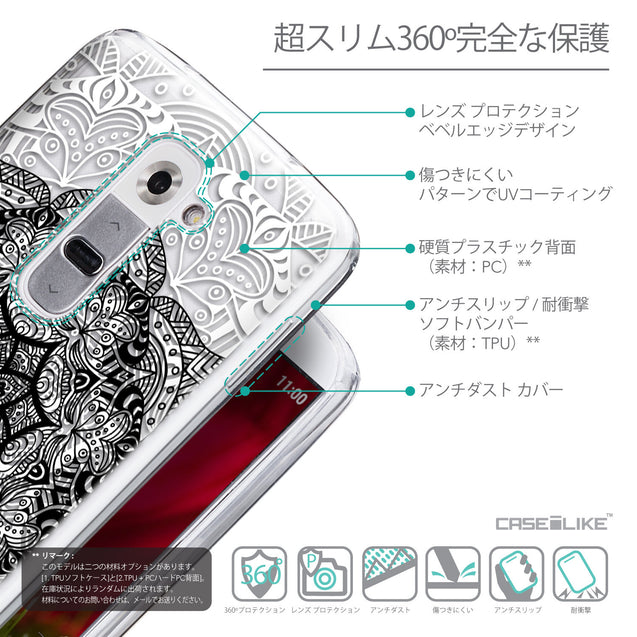Details in Japanese - CASEiLIKE LG G2 back cover Mandala Art 2097