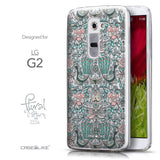 Front & Side View - CASEiLIKE LG G2 back cover Roses Ornamental Skulls Peacocks 2226