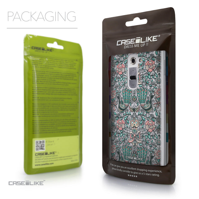 Packaging - CASEiLIKE LG G2 back cover Roses Ornamental Skulls Peacocks 2226