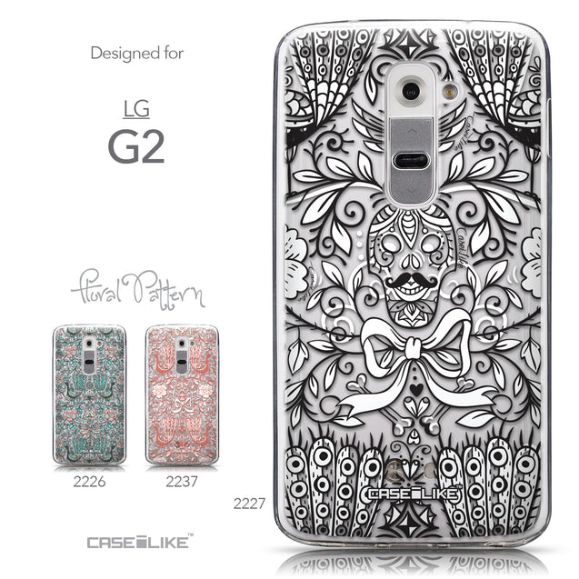 Collection - CASEiLIKE LG G2 back cover Roses Ornamental Skulls Peacocks 2227