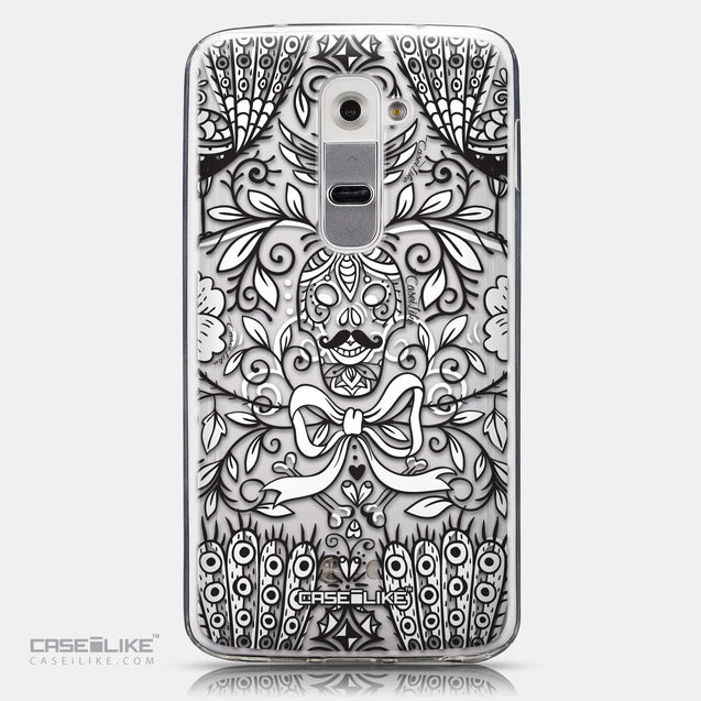 CASEiLIKE LG G2 back cover Roses Ornamental Skulls Peacocks 2227