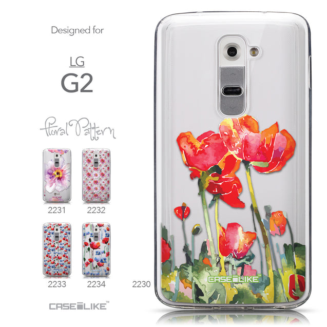 Collection - CASEiLIKE LG G2 back cover Watercolor Floral 2230