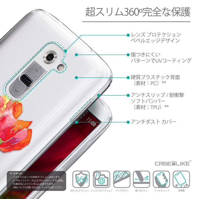 Details in Japanese - CASEiLIKE LG G2 back cover Watercolor Floral 2230