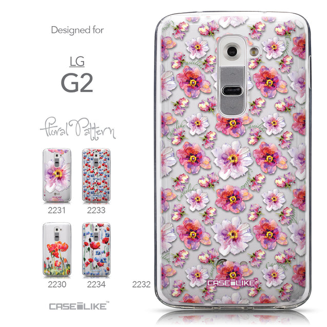 Collection - CASEiLIKE LG G2 back cover Watercolor Floral 2232