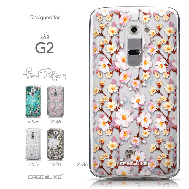Collection - CASEiLIKE LG G2 back cover Watercolor Floral 2236