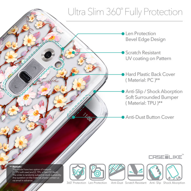 Details in English - CASEiLIKE LG G2 back cover Watercolor Floral 2236