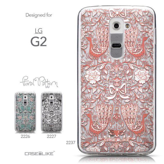 Collection - CASEiLIKE LG G2 back cover Roses Ornamental Skulls Peacocks 2237