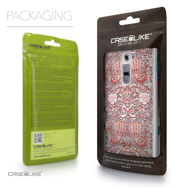 Packaging - CASEiLIKE LG G2 back cover Roses Ornamental Skulls Peacocks 2237