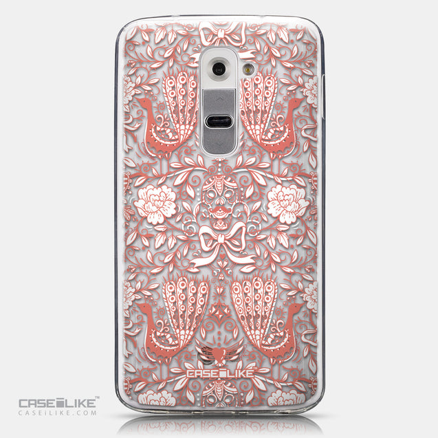 CASEiLIKE LG G2 back cover Roses Ornamental Skulls Peacocks 2237