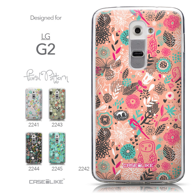 Collection - CASEiLIKE LG G2 back cover Spring Forest Pink 2242