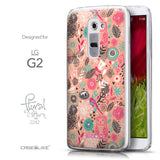 Front & Side View - CASEiLIKE LG G2 back cover Spring Forest Pink 2242