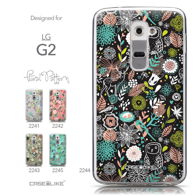 Collection - CASEiLIKE LG G2 back cover Spring Forest Black 2244