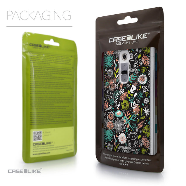 Packaging - CASEiLIKE LG G2 back cover Spring Forest Black 2244
